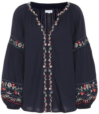 Velvet Carina embroidered blouse