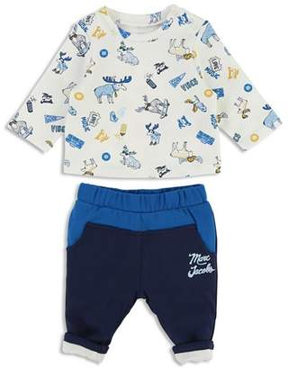 Little Marc Jacobs Boys' Moose-Print Tee & Jogger Pants Set - Baby