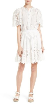 Women's Sea Emma Pintuck Eyelet Dress $435 thestylecure.com