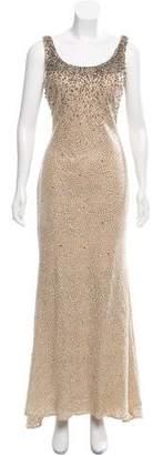 Alberto Makali Metallic Evening Dress