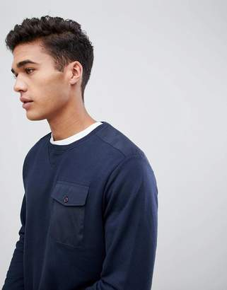 Celio Crew Neck Sweat With Contrast Pocket