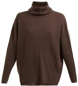 Allude Roll Neck Cashmere Sweater - Womens - Brown
