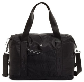Zella Perforated Duffel Bag - Black $119 thestylecure.com