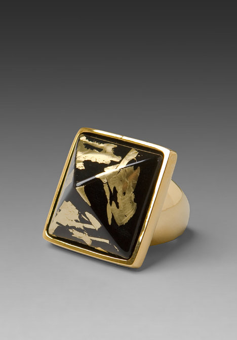 Kenneth Jay Lane Pyramid Ring