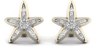 Imperial Star 1/20 Ct TDW. Diamond 14K Yellow Gold Star Stud Earrings (I-J, I2)