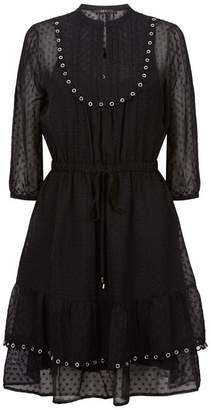 SET Swiss Dot Mini Dress