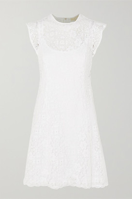 MICHAEL Michael Kors Crocheted Lace Mini Dress - White