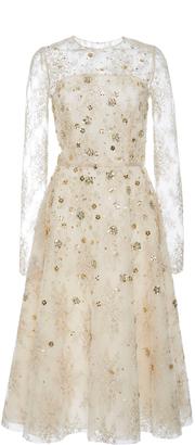 Oscar de la Renta Long Sleeve Cocktail Dress $6,790 thestylecure.com