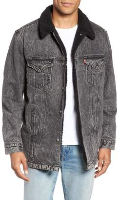 Levi's Long Fleece Lined Trucker Jacket
