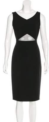 Akris Cutout-Accented Sheath Dress