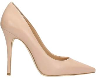 The Seller Pointed Toe Nude Leather Pumps