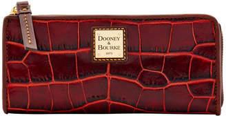 Dooney & Bourke Croco Fino Zip Clutch
