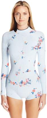 Cynthia Rowley Women's Printed Fiber-Lite Neoprene Wetsuit One Piece Swimsuit