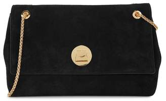 Coccinelle Liya Black Suede Shoulder Bag