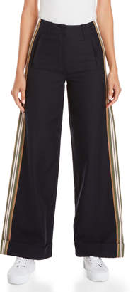 Paul & Joe Sister Side Stripe Wide Leg Pants