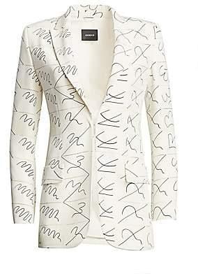 Akris Women's Amarina Leporello Silk Printed Blazer