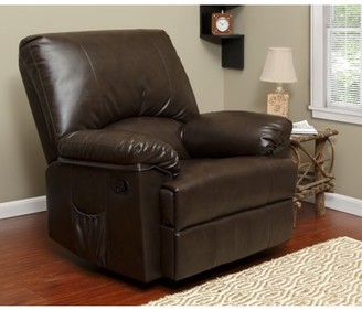 RelaxZen Relaxzen 23-7000MWM Rocker Recliner with Heat and Massage, Brown Marbled Leather