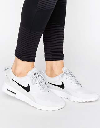 Nike Thea Trainers In Pale Grey