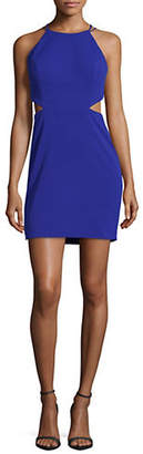 Aidan Mattox AIDAN Scuba Crepe Cutout Coacktail Dress