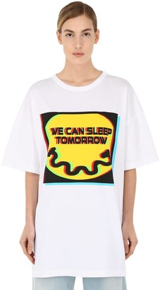 Maison Margiela Sleep Tomorrow Cotton Jersey T-Shirt