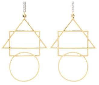 Mateo 14Kt Gold Geometric Shapes Earrings