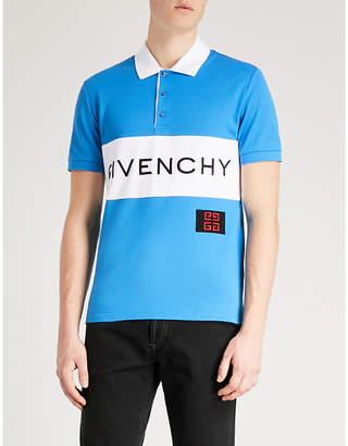 Givenchy Stripe logo cotton-piqué polo shirt