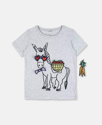 Stella McCartney arlow donkey badges t-shirt