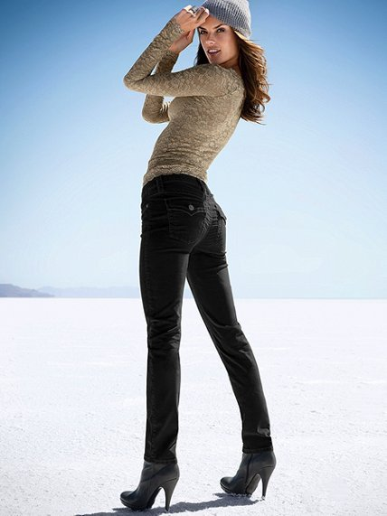 Victoria's Secret The Low Five Skinny Pant in Corduroy
