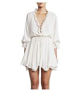 Shona Joy Frill Collar Drawstring Mini Dress