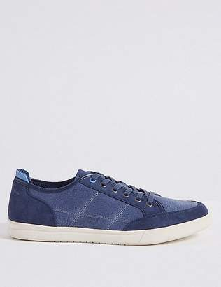 Marks and Spencer Canvas Lace-up Trainers