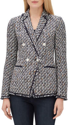 Lafayette 148 New York Devin Double-Breasted Tweed Jacket