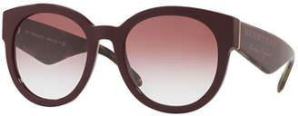 Burberry Round Gradient Logo Sunglasses
