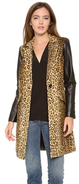 Milly Leather Sleeve Mens Coat