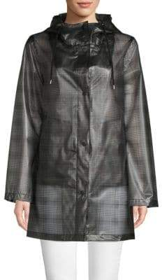 French Connection Plaid Raincoat