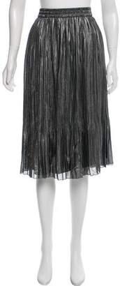 Maison Scotch Pleat Knee-Length Skirt w/ Tags