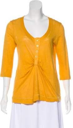 Chloé Linen Button-Up Top