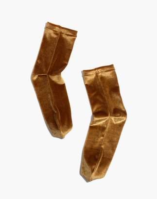 Madewell Velvet Ankle Socks