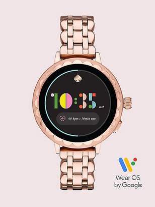 Kate Spade Rose Gold-tone Stainless Steel Scallop Smartwatch 2, Rose Gold