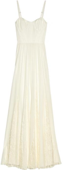 Alice + Olivia Geneva lace-trimmed silk-chiffon maxi dress