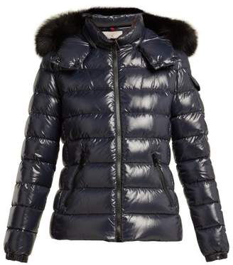 Moncler Badyfur Nylon Quilted Jacket - Womens - Navy