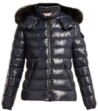 Moncler Badyfur Nylon Quilted Jacket - Womens - Navy
