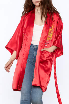 Dragon Optical Laogudai Red Satin Robe