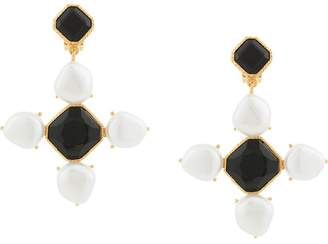 Oscar de la Renta Baroque Pearl earrings