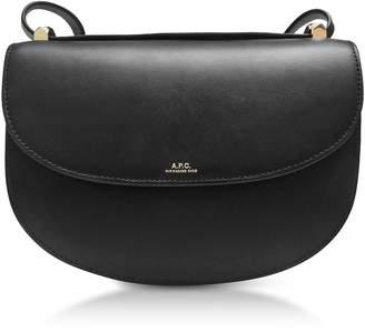 A.P.C. Black Geneve Leather Crossbody Bag
