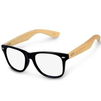 363774c43c at Amazon Canada · Navaris Vintage Non Prescription Glasses - Unisex Eyewear  with Bamboo Frames
