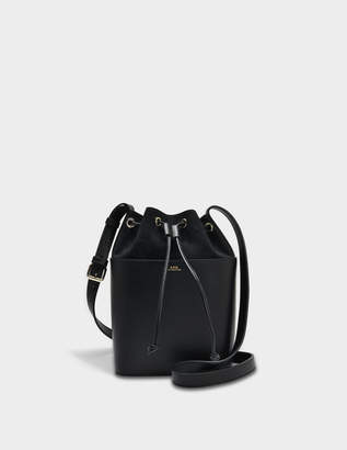 A.P.C. Clara Bag in Black Shiny and Nubuck Calf Leathers