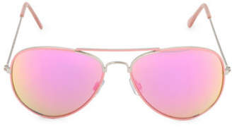 Steve Madden 59mm Painted Aviator Sunglasses