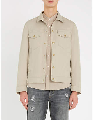 Brunello Cucinelli Mandarin-collar leisure-fit cotton shirt