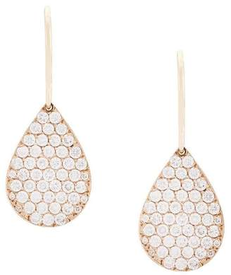 Irene Neuwirth 18kt rose gold and diamond teardrop earrings