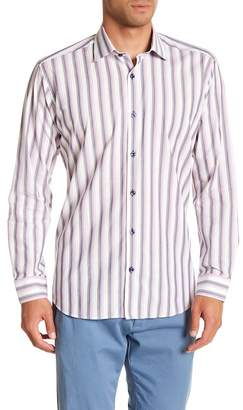 Jared Lang Stripe Patterned Woven Shirt